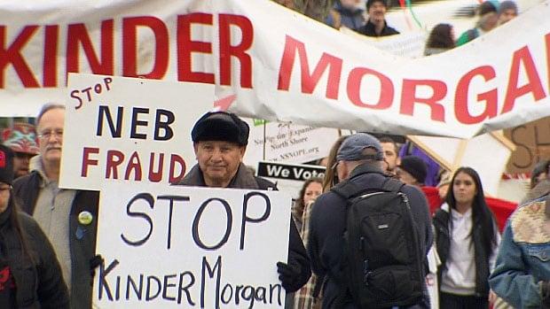 Kinder Morgan protest