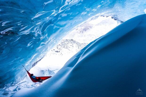 Callum Snape Athabasca Glacier hangout Jan 2015