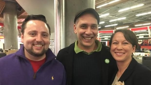 Liberal candidate Gavin Dew, Green candidate Pete Fry and NDP candidate Melanie Mark (left to right) are vying for MLA seat for Vancouver-Mount Pleasant.