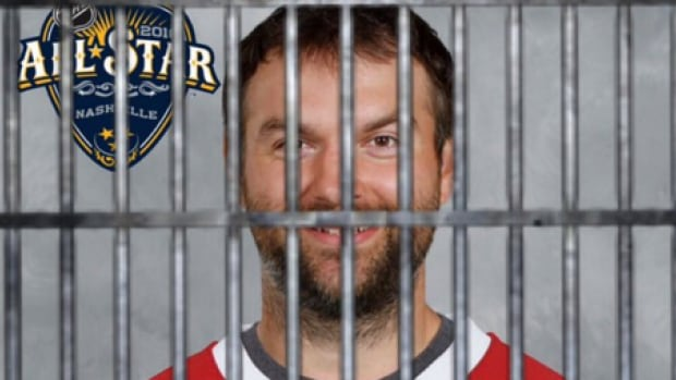 Photo of John Scott behind bars made its way around the internet after he was traded and his all-star eligibility was called into question.
