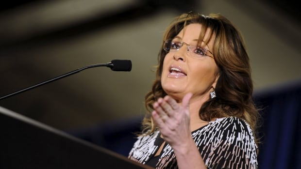 Former Alaska Gov. Sarah Palin speaks at a rally endorsing U.S. Republican presidential candidate Donald Trump at Iowa State University in Ames, Iowa, January 19, 2016.