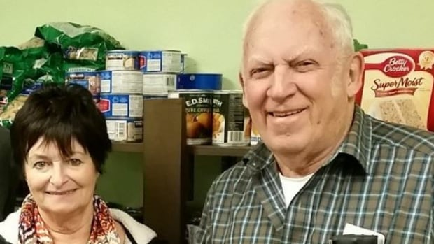 Lois King and Alfie Smith, of the Sussex Sharing Club, say donations from PotashCorp over the past few years have put the local foodbank on an even keel.