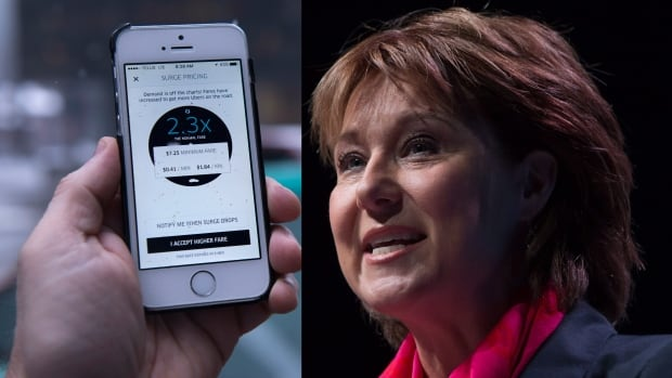 Uber, Airbnb, and other companies in the 'sharing economy' appear to have caught the eye of the B.C. Liberal party, led by Christy Clark, seen here Monday at the B.C. Tech Summit.