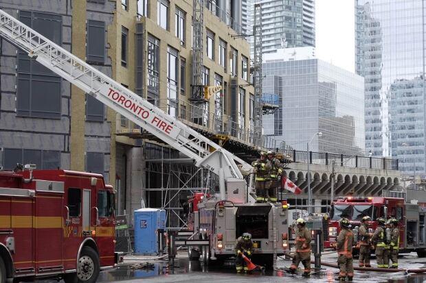 Yonge Esplanade Fire firefighters