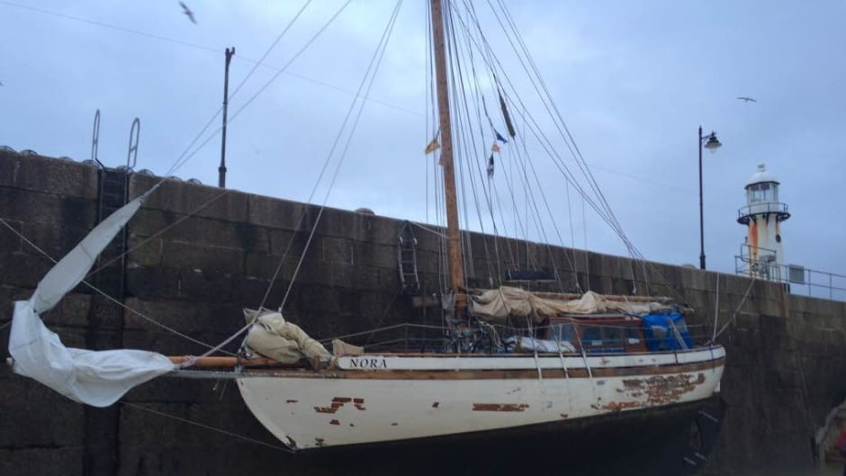Bob Weise and Steve Shapiro have been sailing on this boat, named Nora, since the summer.