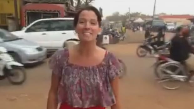'I'm sending hugs and kisses,' Maude Carrier says in a video recorded before she was killed in an attack on Ouagadougou.