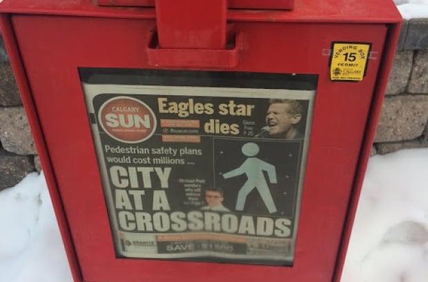 Calgary Sun newspaper box