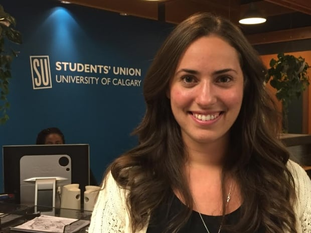 Sarah Pousette with the U of C Students' Union