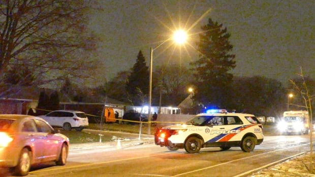 Police say a man was shot and killed inside the garage of an Etobicoke home on Wednesday night.