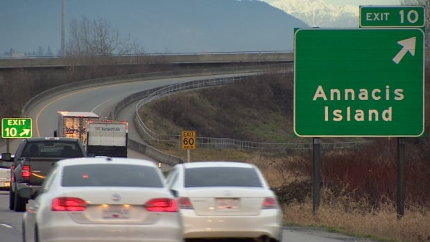 People who work on Annacis Island say traffic has worsened because of people using the industrial area as a shortcut.