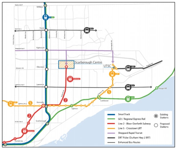 scarborough subway map
