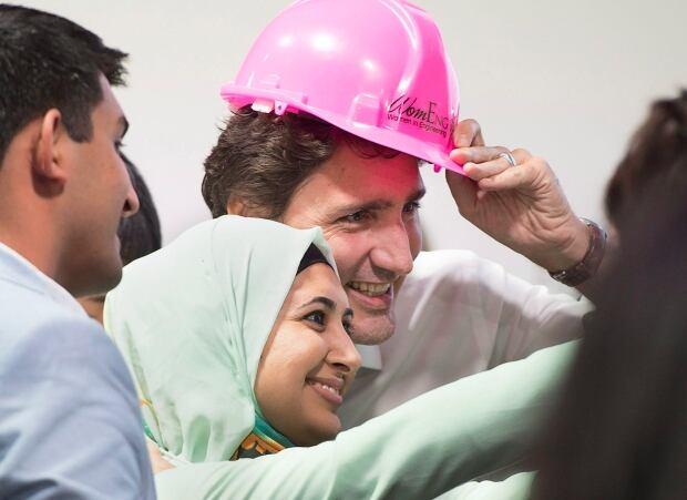 Trudeau and Naadiya Moosajee in Davos