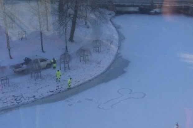 The first Swedish snow penis