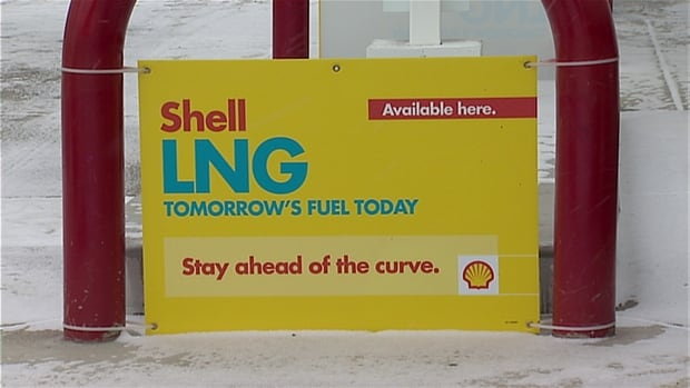 Shell LNG station in Calgary