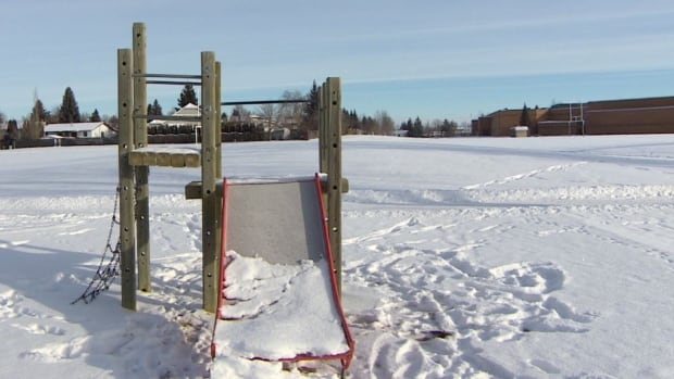 The nearly 20-year-old play structure in W.J.L. Harvey Park in the Silverwood Heights neighbourhood is one of the few playgrounds slated for a government-funded upgrade.