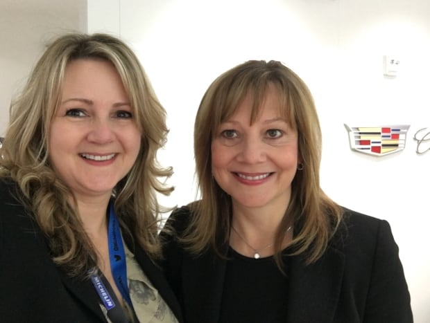 Scotty Reiss and GM's Mary Barra