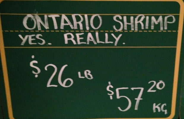 A recent sign at Honest Weight Fish Shop in Toronto