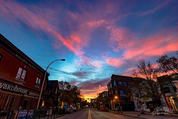 Kensington Rd sunset