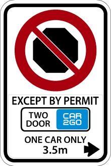Car2Go sign