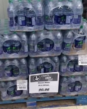 Tulita bottled water $90.96