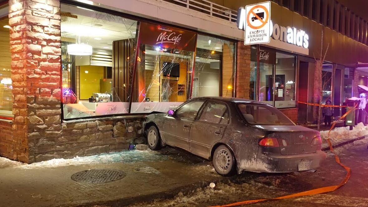 car crashes into a mcdonald s on jean talon street montreal car crashes into a mcdonald s on jean talon street montreal news