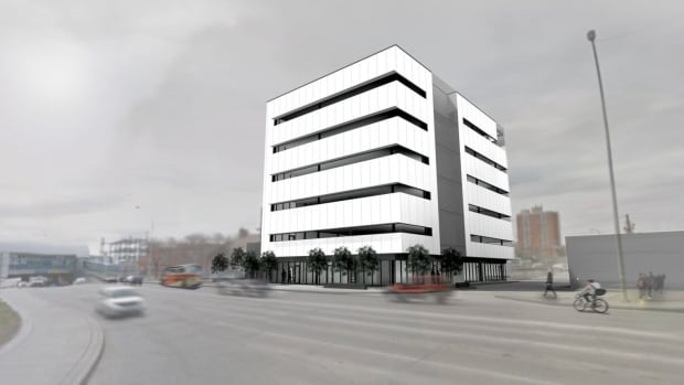 "A new office building at 257 Osborne St. ""is expected to play a large role in revitalization efforts at Confusion Corner,"" the firm managing the build says."