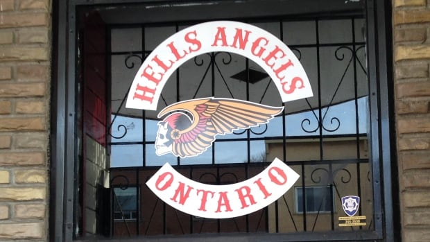 The Hells Angels Ontario logo appeared at a building on Simpson Street in Thunder Bay.