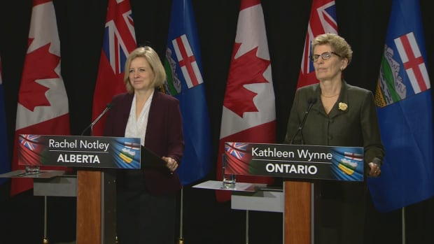 During a press conference following their meeting this morning the two premiers agreed that climate change is one of the most 'urgent' issues facing both of their provinces.