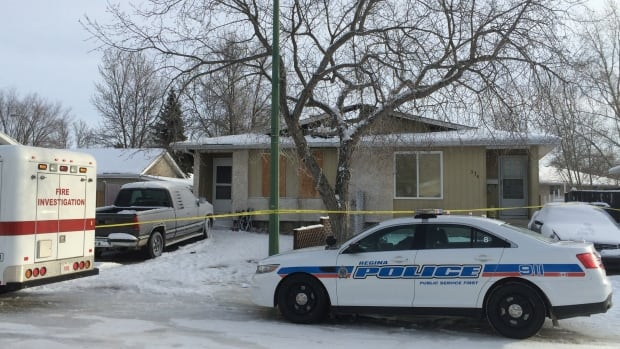 Police and fire investigators have been working at the scene of a fatal fire at 374 Markwell Drive in Regina.