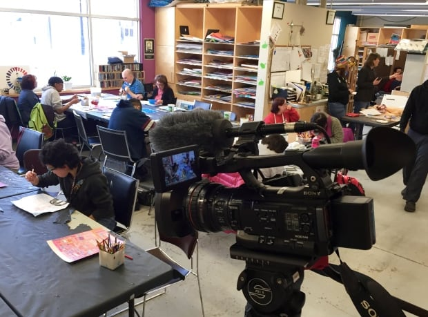 Our Edmonton filming in the main work room
