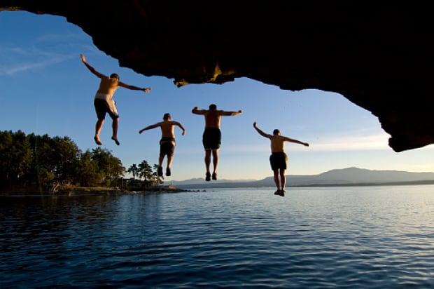 Gabriola jumping