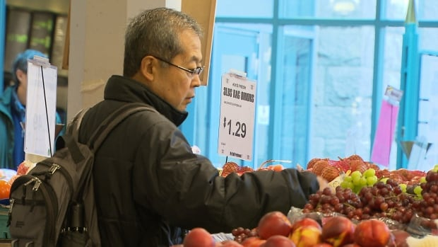 Fruit and vegetable prices has risen sharply because of the low Canadian dollar.