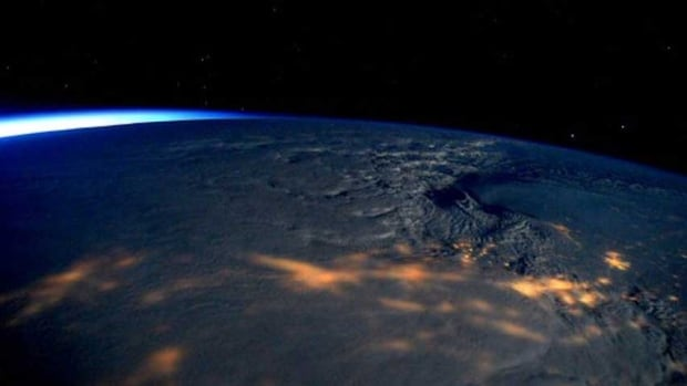 U.S. East Coast snowstorm from space