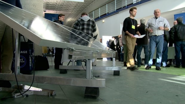 The public was able to talk to people in the solar energy industry at conference at NAIT on Saturday.