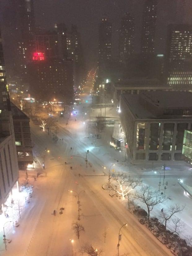 New York City snow storm, Jan. 22, 2016.