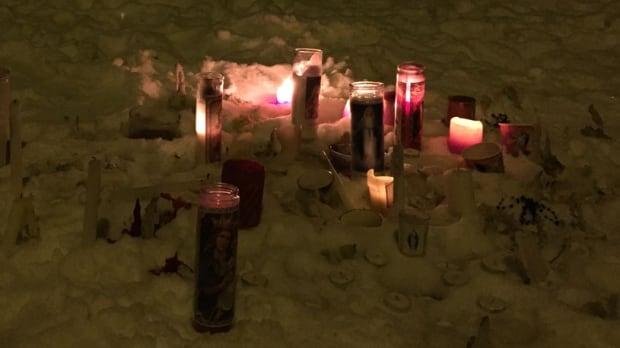 Candles at La Loche, Sask.