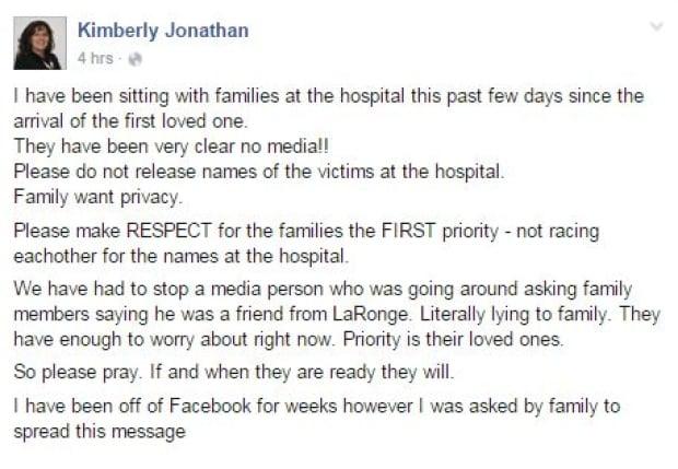 Kimberly Jonathan fb post