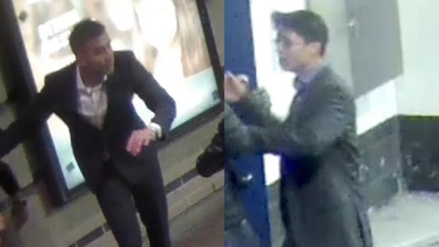 Police have released images of two men suspected in a 'vicious' attack on a woman on Clarence Street in October 2015.