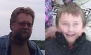 Snowmobile crash victims, father and son