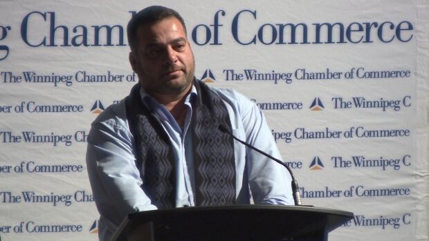 Khalid at Winnipeg Chamber of Commerce luncheon