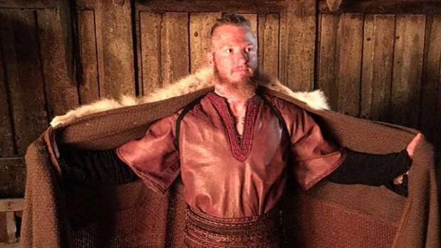 Josh Donaldson, 30, flew to Ireland to make a cameo on the Canadian-Irish TV show Vikings.