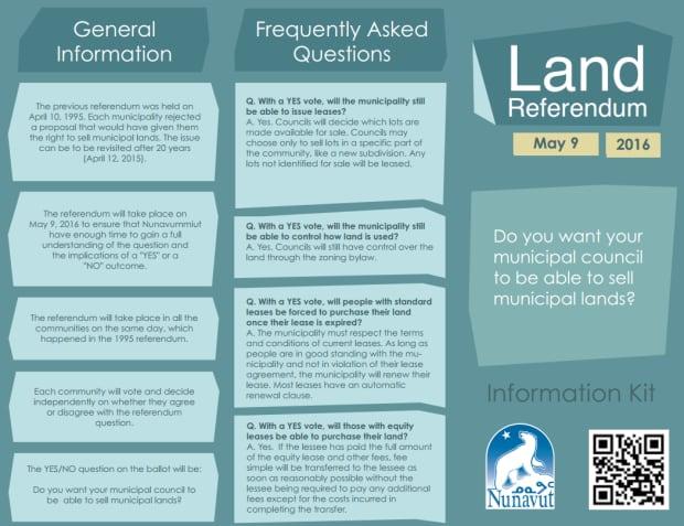 Nunavut land referendum brochure