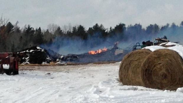 Fire crews were called to the Village of Gagetown on Tuesday around 10:30 a.m. to deal with a barn fire.