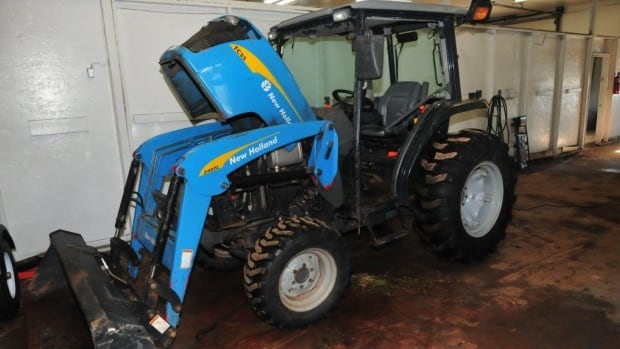 Charlottetown police allege this tractor was painted to look like a different make and model.