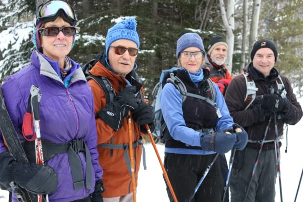 Lynn Andres (far left) and friends from Norseman Ski Club