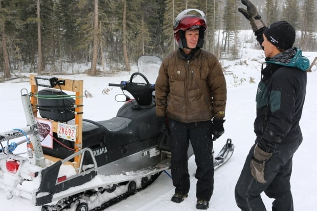 Bill Hoyne and Jeff Hughes, West Bragg Creek trail groomer