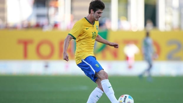 A sexual assault charge laid against Brazilian soccer player Lucas Domingues Piazon, 21, during the Toronto Pan Am Games was dropped on Tuesday.