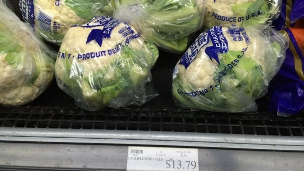 The price of cauliflower in Ottawa made international headlines this winter, when prices hit $8 per head. After a slight delay, the price hike has hit Nunavut, with one Iqaluit store pricing the vegetable at more than $13.