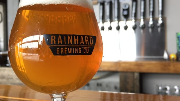 A beer from Rainhard Brewing Co., one of the brewers involved in the idea to create a new district in Toronto.