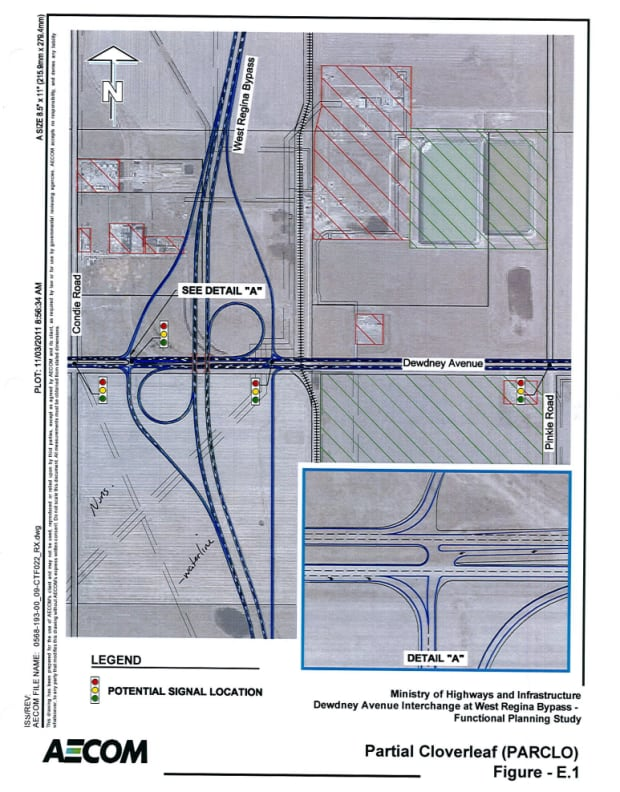 Ministry of Highways interchange plan